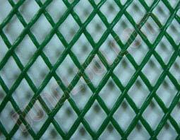 Lưới nhựa ép hình thoi, Chi tiết lưới PVC ép hình thoi