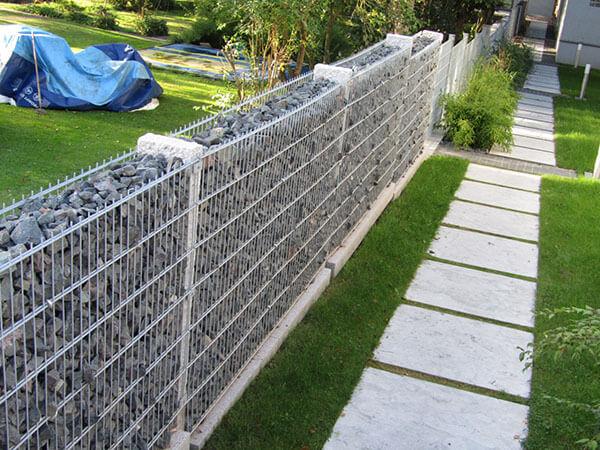 Lưới rọ đá làm tường rào