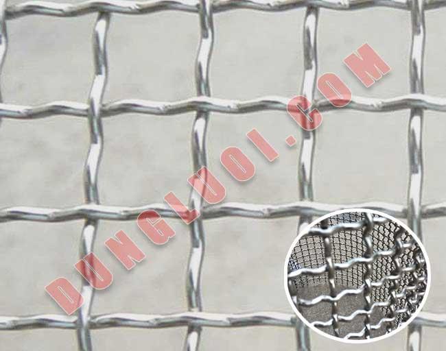 Lưới đan sóng sợi INOX và THÉP ô vuông + ô chữ nhật